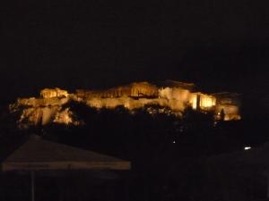 La Acrópolis de noche