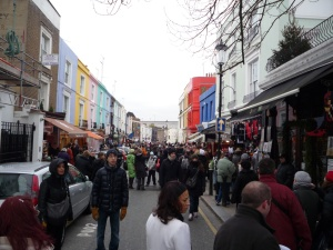Peatones en Portobello