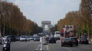 Campos Elíseos y el Arco del Triunfo