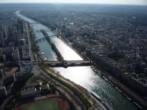 El Sena desde la Torre Eiffel