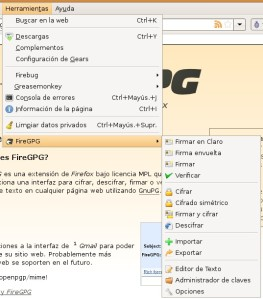 FireGPG integra GnuPG en Firefox