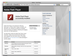 Snow Leopard y el plugin de flash vulnerable