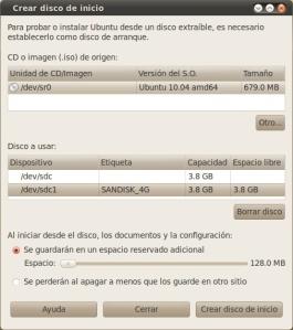 Creando liveUSB de Ubuntu