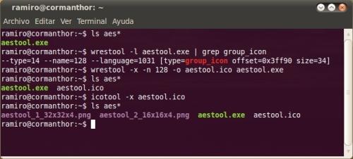 Extrayendo iconos de un fichero EXE