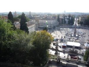Piazza del Poppolo desde Villa Borghese