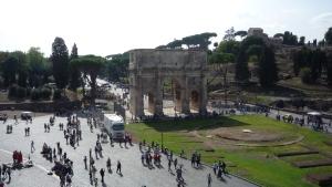Arco de Constantino desde el Coliseo