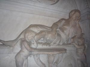 Escultura de Miguel Ángel, hecha con su máscara mortuoria