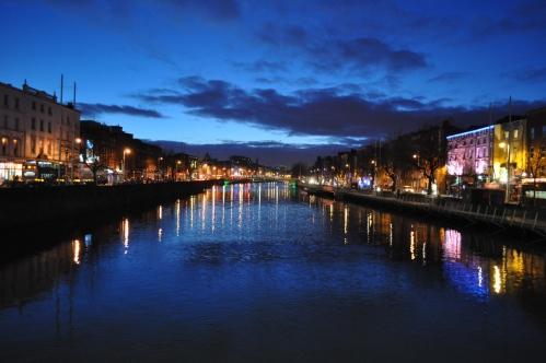 Atardecer en Dublín