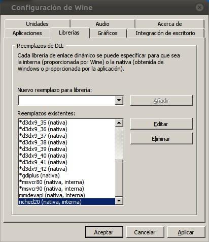 Configuración de Wine para PowerPoint 2007