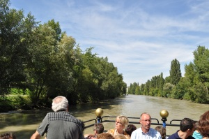Navegando el canal del Danubio