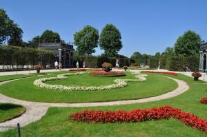 Jardín lateral en Schönbrunn