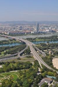 Viena desde la Torre del Danubio